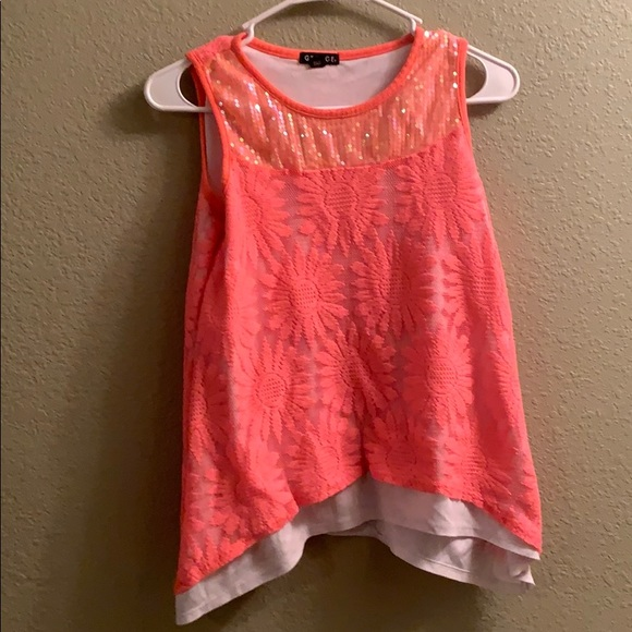 Salmon colored Girls Top